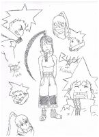 Blackstar and Tsubaki sketch dump by Blue-eyed-girl-23