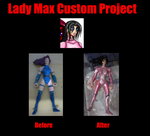 Lady Max Action Figure Customized by kiske-otoko