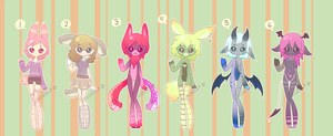 Humans, Anthros, and Demons Adopts (Closed) by LizardBat