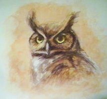 Owl Painting by LittleRueKitty