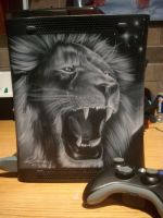 Lion Airbrushed Xbox 2 by Mathius88