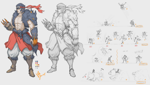 Fenrir as human form - Concept by shanku