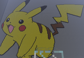 Pikachu - Minecraft Pixel Art by SophisticatedCreeper