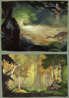 bg studies by Larkles