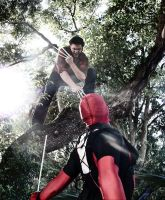 Wolverine Vs Deadpool by IamTheWolverine