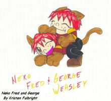 Neko Fred and George by AngeloftheDesert