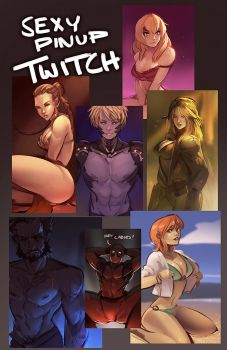 Twitch | Pinup Art Request Stream by RyoTazi