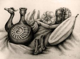 Still life drawing since 2003 #2 by Lilaccu
