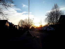 Neighborhood sunset by POETRYTHROUGHLENS