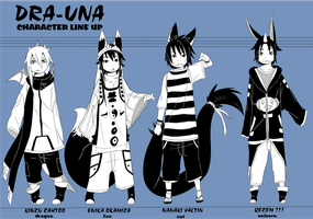 DRA-UNA CHARACTER LINE UP by phation