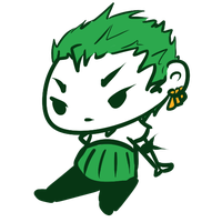 Zoro Chibi Re-Drawn by Ijen-Ekusas