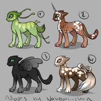Fantasy Cat Adopts - closed by Nahemii-chan