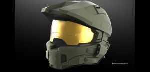 Halo 4 Chief Helmet by Dutch02