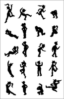 20 Fry and Leela Silhouettes by Alanquest
