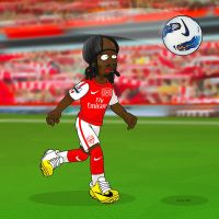 Great Soccer Cuts: Gervinho by SimpsonsCameos
