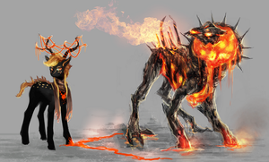 MLP Fire golem pony and mage auction 53 CLOSED by ElkaArt