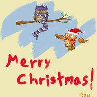Owl Wish You a Merry Christmas by ThisIsNotanOwl