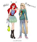 Ariel and Rapunzel (Morloth88 colouring contest) by Orpherilia