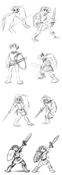 Link Sketches for COURAGE by larkinheather