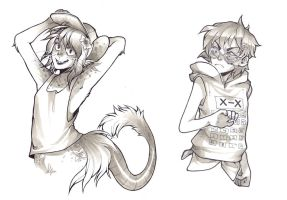 traditional lineart commissions by HJeojeo