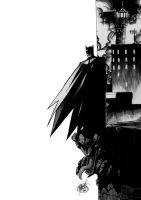 Batman on the Rooftop by mijka