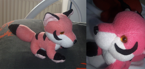 Chibi pink fox plush: revised by goiku