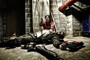 Bill and Zoey - Left 4 Dead by Crash-the-Photos