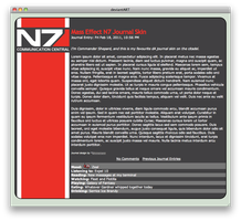 Mass Effect N7 Journal skin by Simmemann