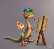 Gecko Painter by cicakkia
