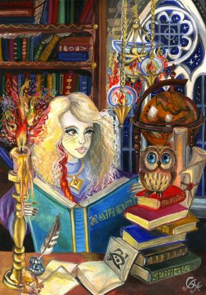 Amber and the little owl by Alexandra-Glazer