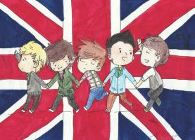 One Direction - Chibi by Mangetsu-Ro