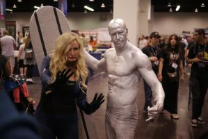 Sue Storm and Silver Surfer by slasherman
