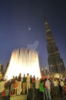 Burj Khalifa Waterworks by tmz99
