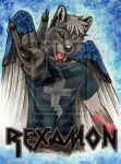 RexAmon by Kitsune-Nyx