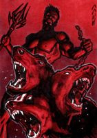 Hades Sketch Card - Jack Redd by Pernastudios