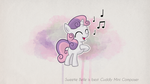 Sweetie Belle is best Cuddly Mini Composer by SterlingPony