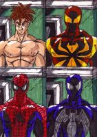 Spidey's different suits by ChahlesXavier