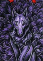 ACEO -Nine Evil Tails- by CrescentMoon