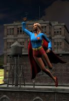 Supergirl in flight by detstyle