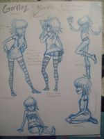 Noodle Model Sheets_Rough by pistol-paintbrush493