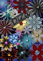 Decorative flowerses in png by DiZa-74
