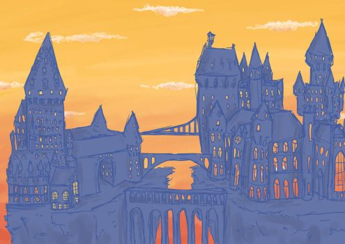 Hogwarts by silvermoonlioness
