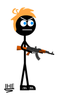IHE himself as a stick figure by Moscow1234