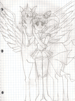 Chibi Moon and Helios by PrettySoldierPetite