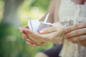 paper cranes (origami) by mary-star