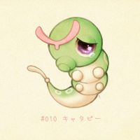 #010 Caterpie - Kyatapii by Melllorine