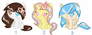 Adoptable baby ponies CLOSED by SugarMoonPonyArtist