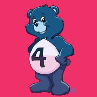 Invisible Woman Care Bear by amydrewthat