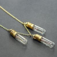 Steampunk Jewelry- 3 Brass Light Bulb Necklace by Tanith-Rohe