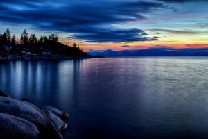 Late January Tahoe Evening by sellsworth